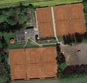 Luftaufnahme TuS Tennisanlage